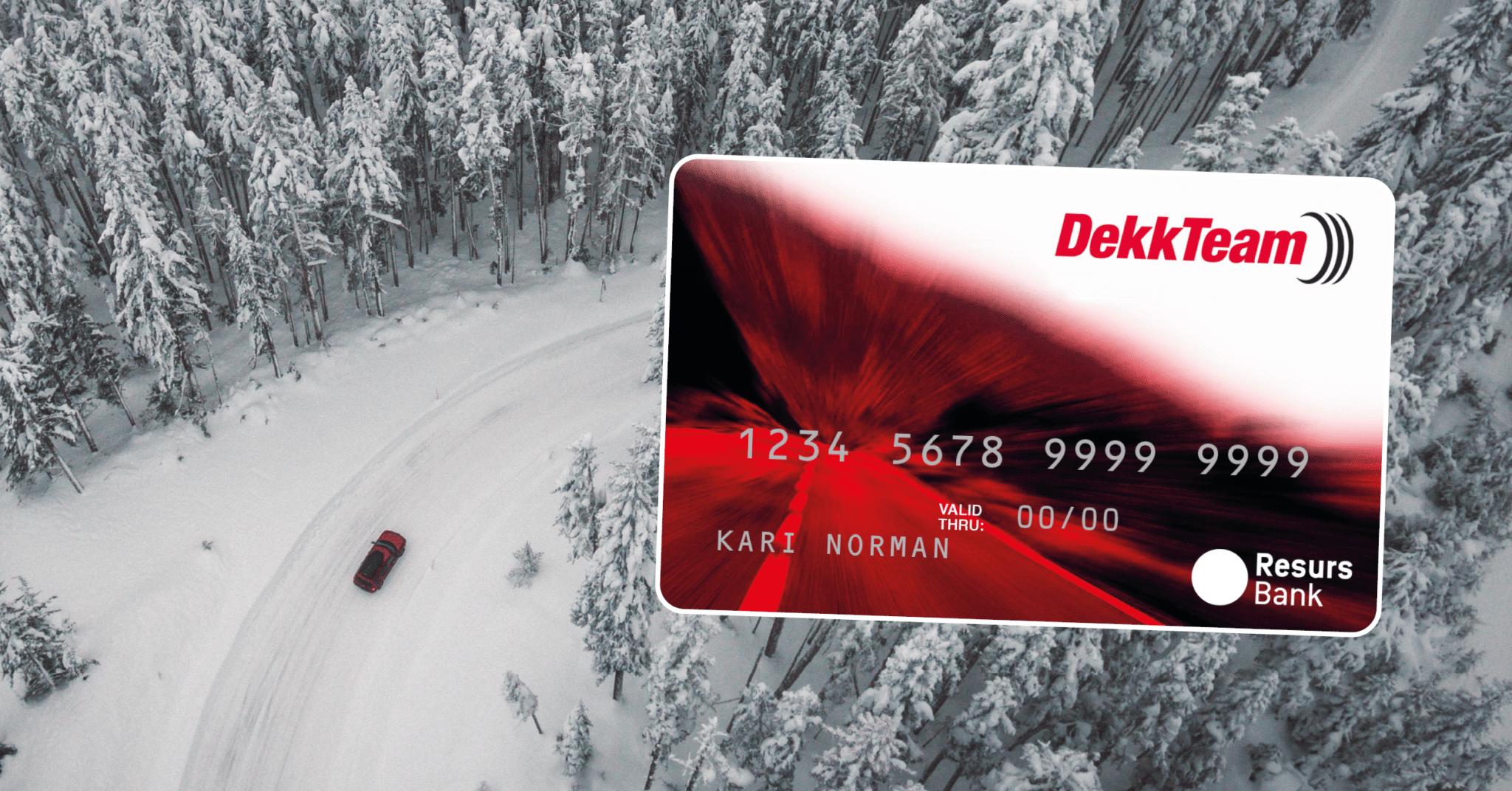 Faktura eller delbetaling - løs finansieringen med DekkTeams kontokort fra ResursBank